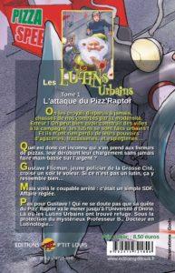 L'attaque du Pizz' Raptor – Les Lutins Urbains tome 1 : quatrième de couverture