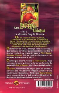 Le dossier Bug le Gnome – Les Lutins Urbains tome 2 : quatrième de couverture